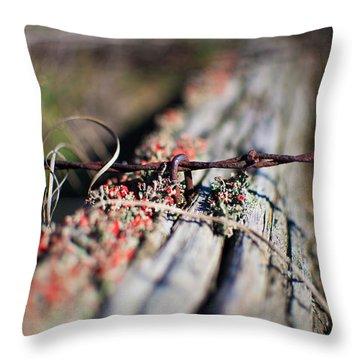 Bright Lichen Throw Pillow