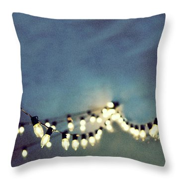 Throw Pillow featuring the photograph Bright Lights by Rebecca Cozart