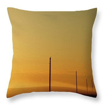 Electrical Field Throw Pillows