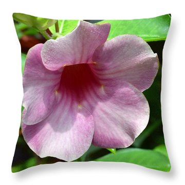 Throw Pillow featuring the photograph Bright Mandevillia by James Fannin