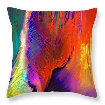 Bright Mustang Horse Throw Pillow