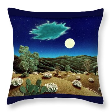 Bright Night Throw Pillow by Snake Jagger
