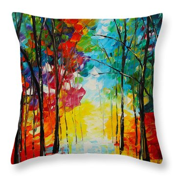 Bright Path Throw Pillow