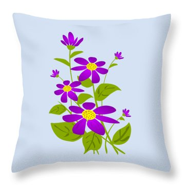 Bright Purple Throw Pillow by Anastasiya Malakhova