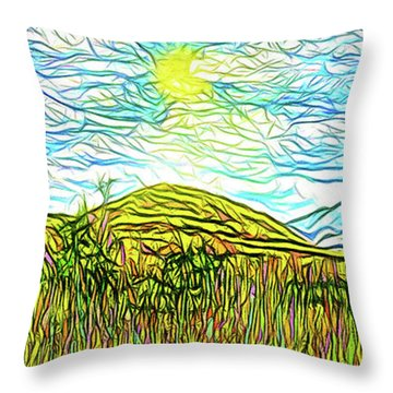 Bright Sky Summer - Field In Boulder County Colorado Throw Pillow by Joel Bruce Wallach