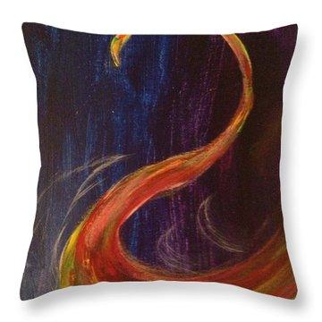 Bright Swan Throw Pillow