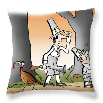 Bright Thanksgiving Throw Pillow