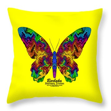 Throw Pillow featuring the digital art Bright Transformation by Barbara Tristan