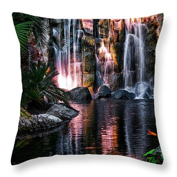 Bright Waterfalls Throw Pillow