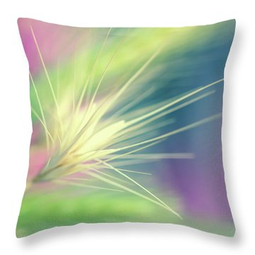 Bright Weed Throw Pillow by Terry Davis