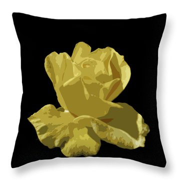 Throw Pillow featuring the photograph Bright Yellow Beauty by Laurel Powell