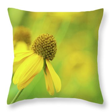 Bright Yellow Flower Throw Pillow