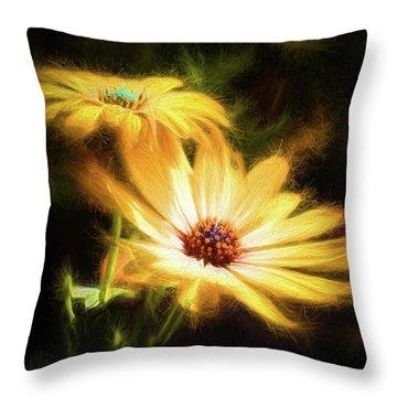Brightest Sun Shining Throw Pillow