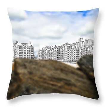 Brighton Beach Throw Pillow by Svetlana Sewell