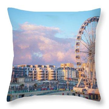 Brighton Ferris Wheel Throw Pillow