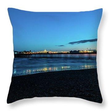 Brighton Pier At Sunset Ix Throw Pillow