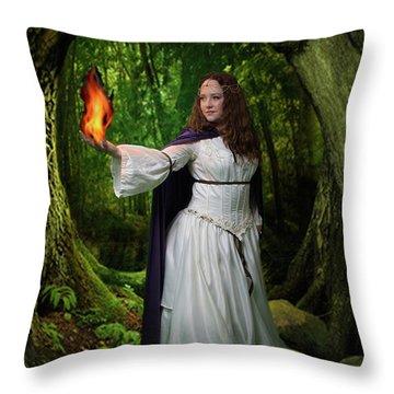 Brigid Throw Pillow by David Clanton