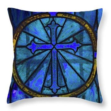 Brillant Blue Throw Pillow