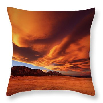 Brilliance Over Boulder Throw Pillow