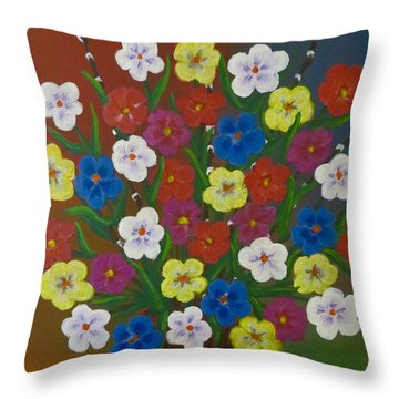 Brilliant Bouquet Throw Pillow