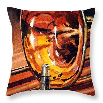 Brilliant Brass Throw Pillow