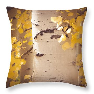 Brilliant Gold Throw Pillow by The Forests Edge Photography - Diane Sandoval