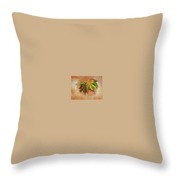 Brilliant Is The Color Of Autumn  Throw Pillow