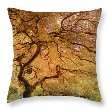 Brilliant Japanese Maple Throw Pillow