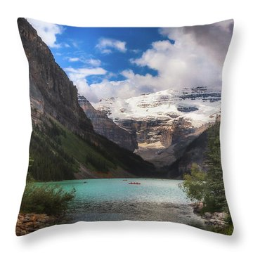 Brilliant Lake Louise Throw Pillow