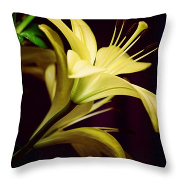 Brilliant Lily Throw Pillow