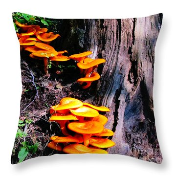 Brilliant Orange Throw Pillow