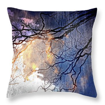 Brilliant Rain Throw Pillow by Gray  Artus