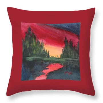 Brilliant Sundown Throw Pillow