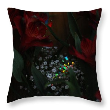 Throw Pillow featuring the photograph Brilliantly Shy by Marie Neder