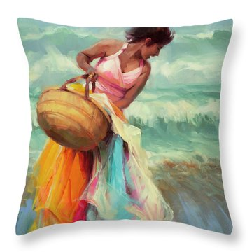 Brimming Over Throw Pillow