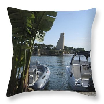Brindisi By The Sea In May Throw Pillow