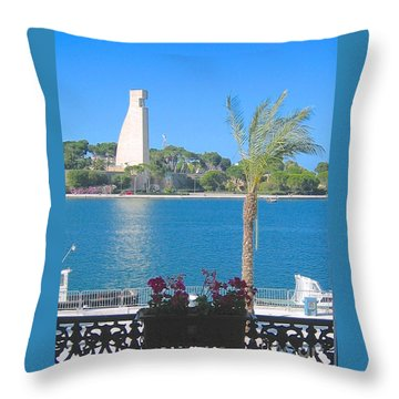 Brindisi By The Sea Throw Pillow