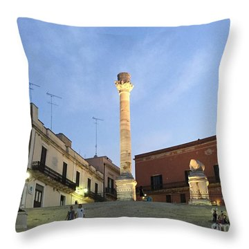 Brindisi Colonne Appian Way 2 Throw Pillow