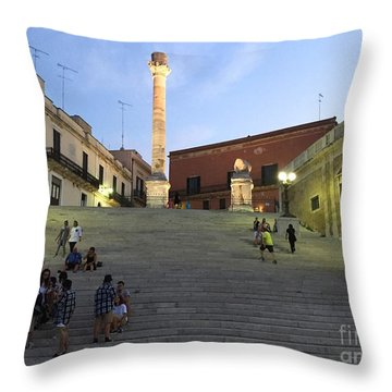 Brindisi Colonne Appian Way Throw Pillow