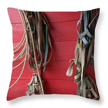 Throw Pillow featuring the photograph Bring Em Home by Marie Neder