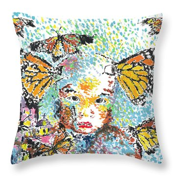 Bring Her Home Safely, Morelia- Sombra De Arreguin Throw Pillow