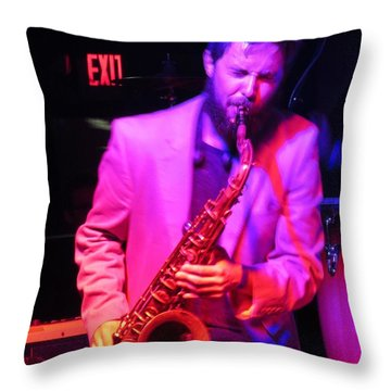 Throw Pillow featuring the photograph Bring Them .blues by Aaron Martens