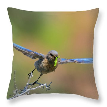 Bringing Home Breakfast Throw Pillow