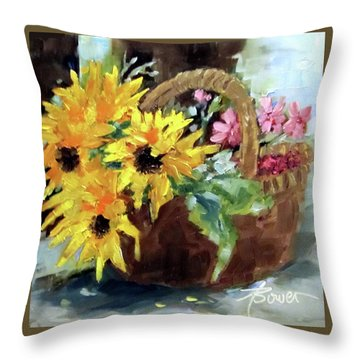 Bringing In The Sunshine  Throw Pillow