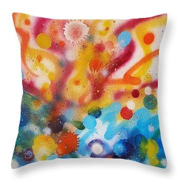 Bringing Life Spray Painting  Throw Pillow