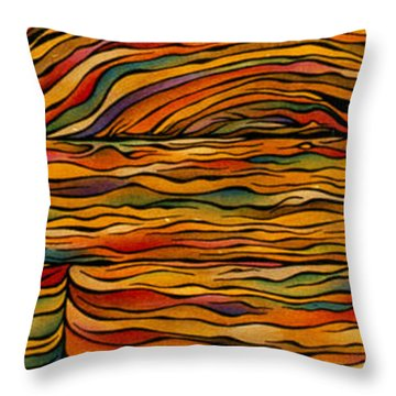 Bringing Out The Grain Throw Pillow