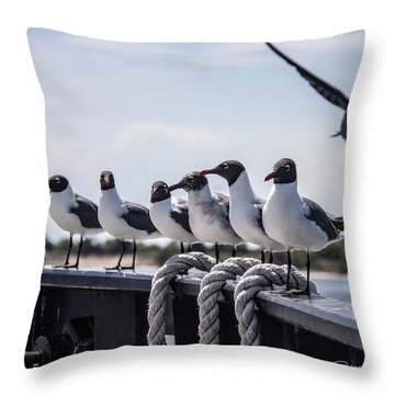 Bringing Up The Rear Throw Pillow by Phil Mancuso