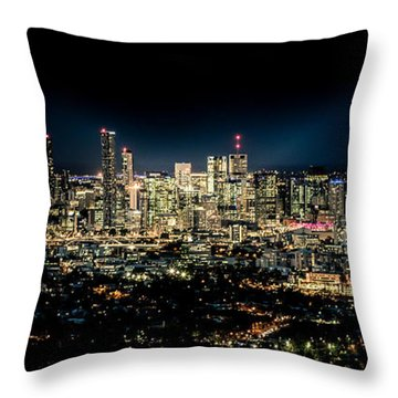Brisbane Cityscape From Mount Cootha #7 Throw Pillow by Stanislav Kaplunov