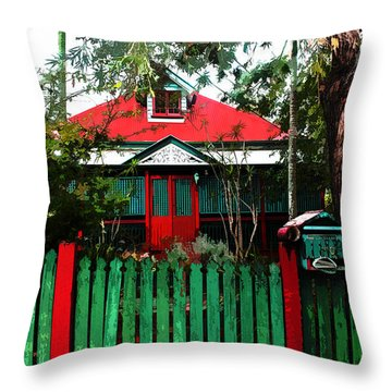 Brisbane Queenslander Throw Pillow