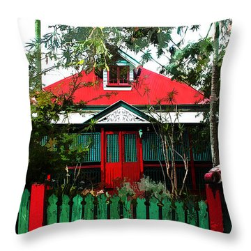 Brisbane Queenslander Throw Pillow